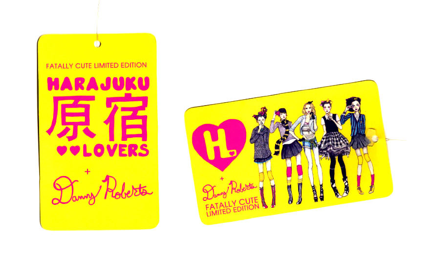 Hang Tag for Danny Roberts Fatally Cute Limited Edition for Gwen Stefani Harajuku Lovers