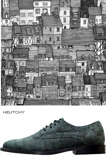 Danny Roberts Building art for Wells Stellbergers shoe Company of Heutchy Collaboration Part 1