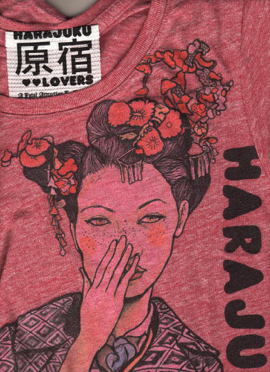 Danny Roberts red Collaboration shirt of Love of harajuku lovers