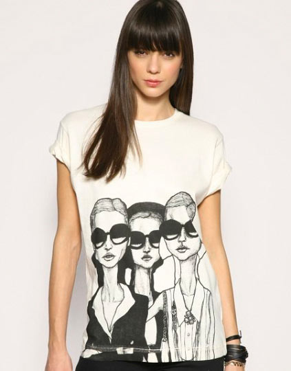 ASOS product photo Danny Roberts girls in glasses Collaboration Shirt for Borders & Frontiers