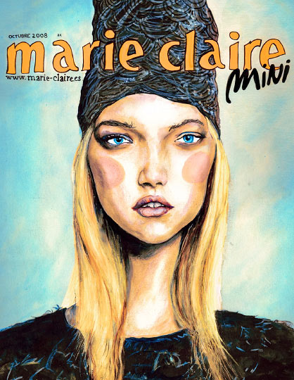 This image is Artist Danny Roberts Marie Claire Spain Cover
