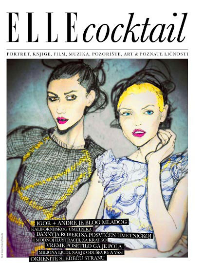 Artist Danny roberts Feature Cover page in Elle Kroatia