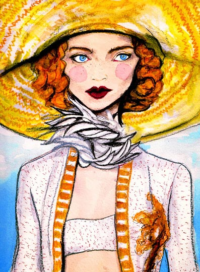 Artist Danny Roberts Painting of Marc Jacobs Spring 2011 Collection