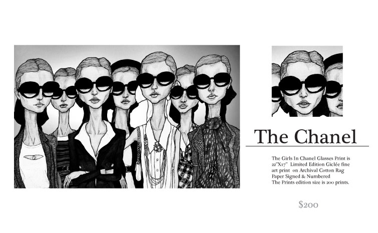 The Chanel Girls in Glass Print by Danny Roberts