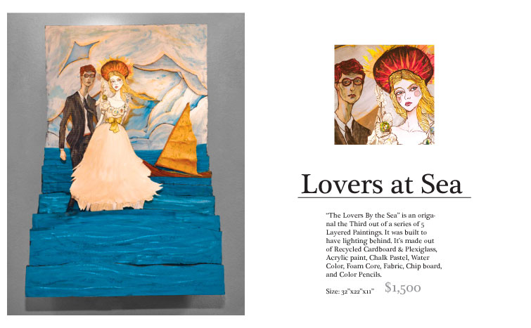 Danny Roberts Fashion Layered Illustration of two lovers by the sea