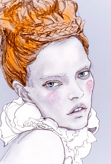 Artist Danny Roberts Inspired by Paul Rowland editorial for V Magazine september 2009