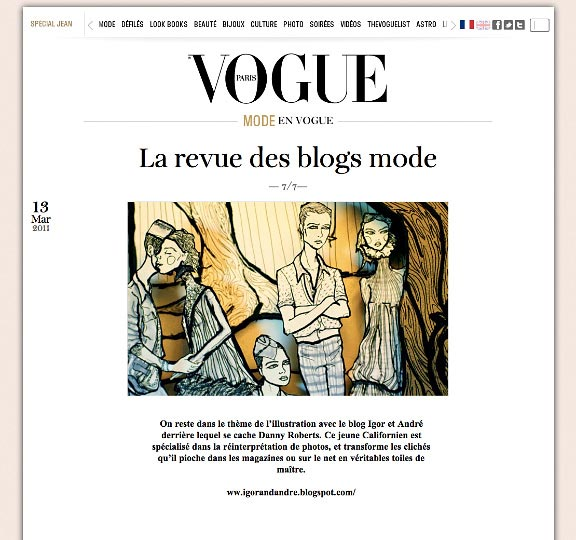 Vogue Paris Web Feature of Igor and andre and artist danny roberts with his alexander mcqueen layered art