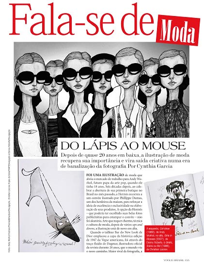 Artist Danny Roberts art Feauture in Vogue Brazil october 2009 issue of the magazine