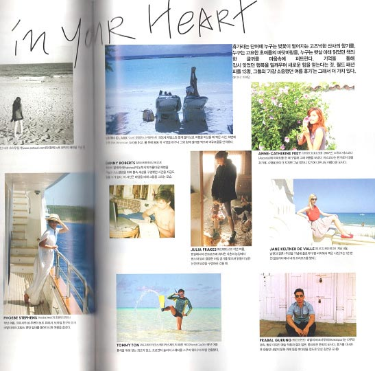 Artist Danny Roberts Feature in Vogue Girl Korea july 2011 on vacation